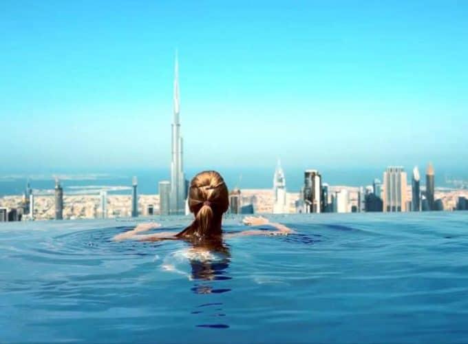 ОАЕ, Дубай: новий готель 2021 р SLS Dubai Hotel & Residences 5* з панорамним басейном на 75 поверсі з видом на Бурдж-Халіфа (акційна ціна на 6 ночей)
